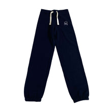 Load image into Gallery viewer, The Hated womens bally logo cuffed tracksuit bottoms - navy/white - The Hated Skateboards