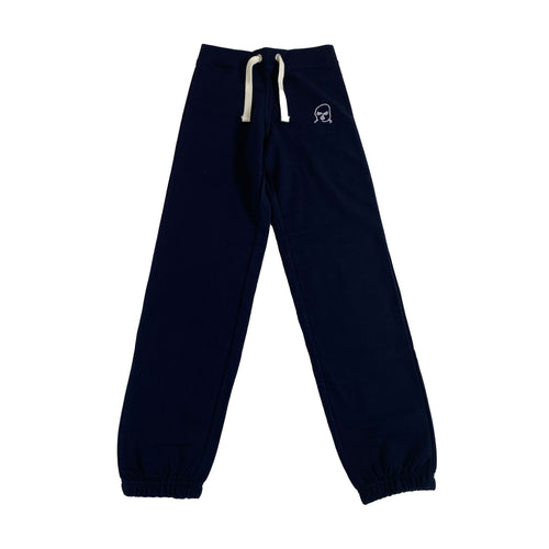 The Hated womens bally logo cuffed tracksuit bottoms - navy/white - The Hated Skateboards