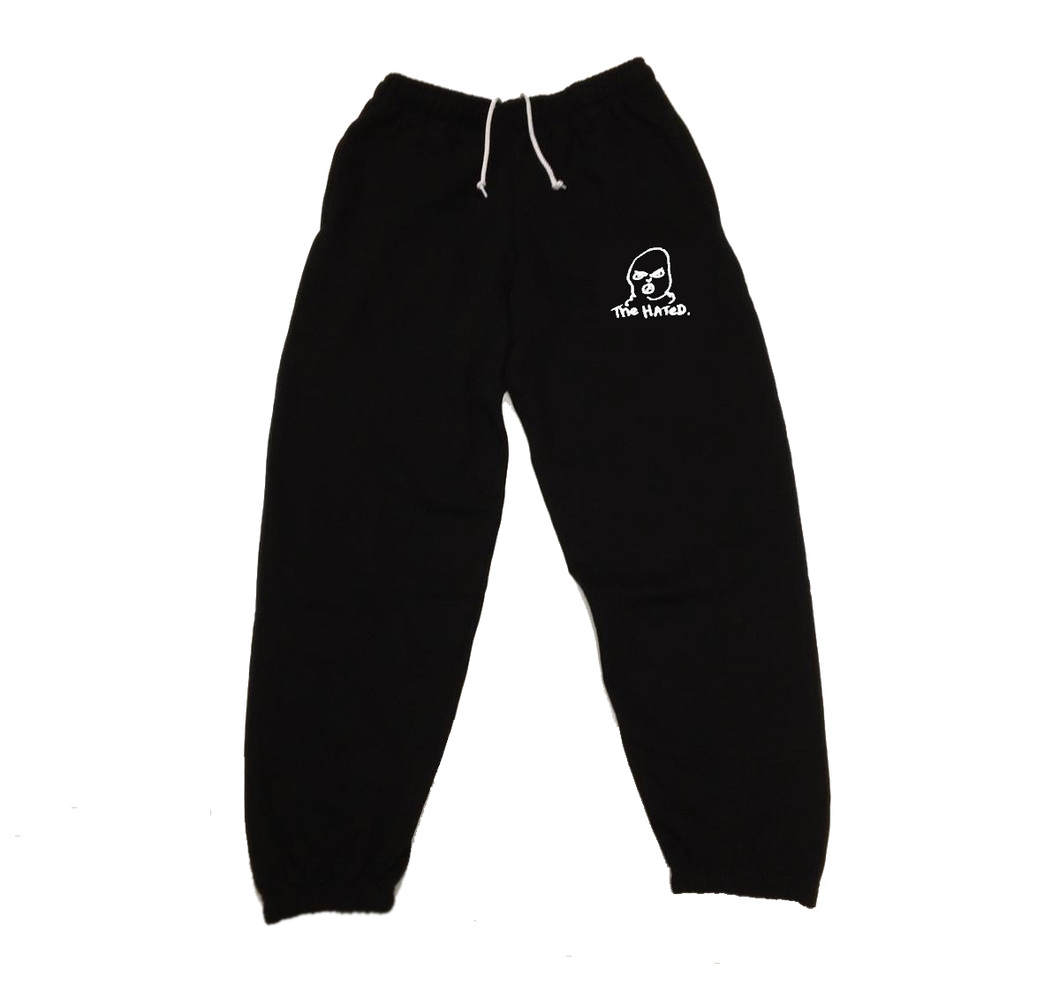 The Hated bally logo tracksuit bottoms - black