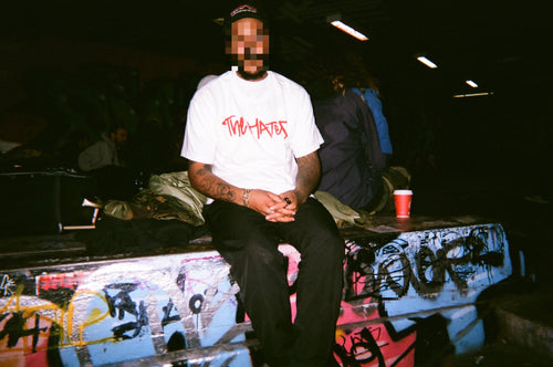 The Hated Box Logo T-Shirt - White/Red - The Hated Skateboards
