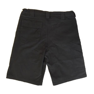 The Hated box logo super stretch slim chino shorts - black/off gold
