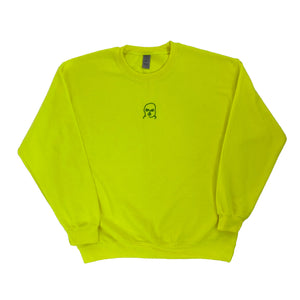 The Hated bally logo sweatshirt - slime green - The Hated Skateboards