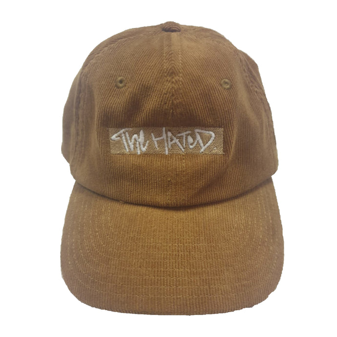The Hated woven box logo cord cap - brown