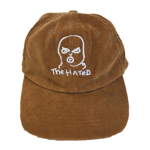 The Hated bally logo cord cap - brown - The Hated Skateboards