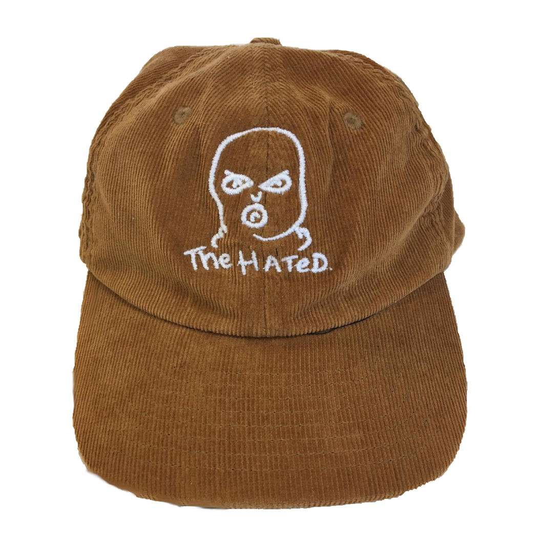 The Hated bally logo cord cap - brown