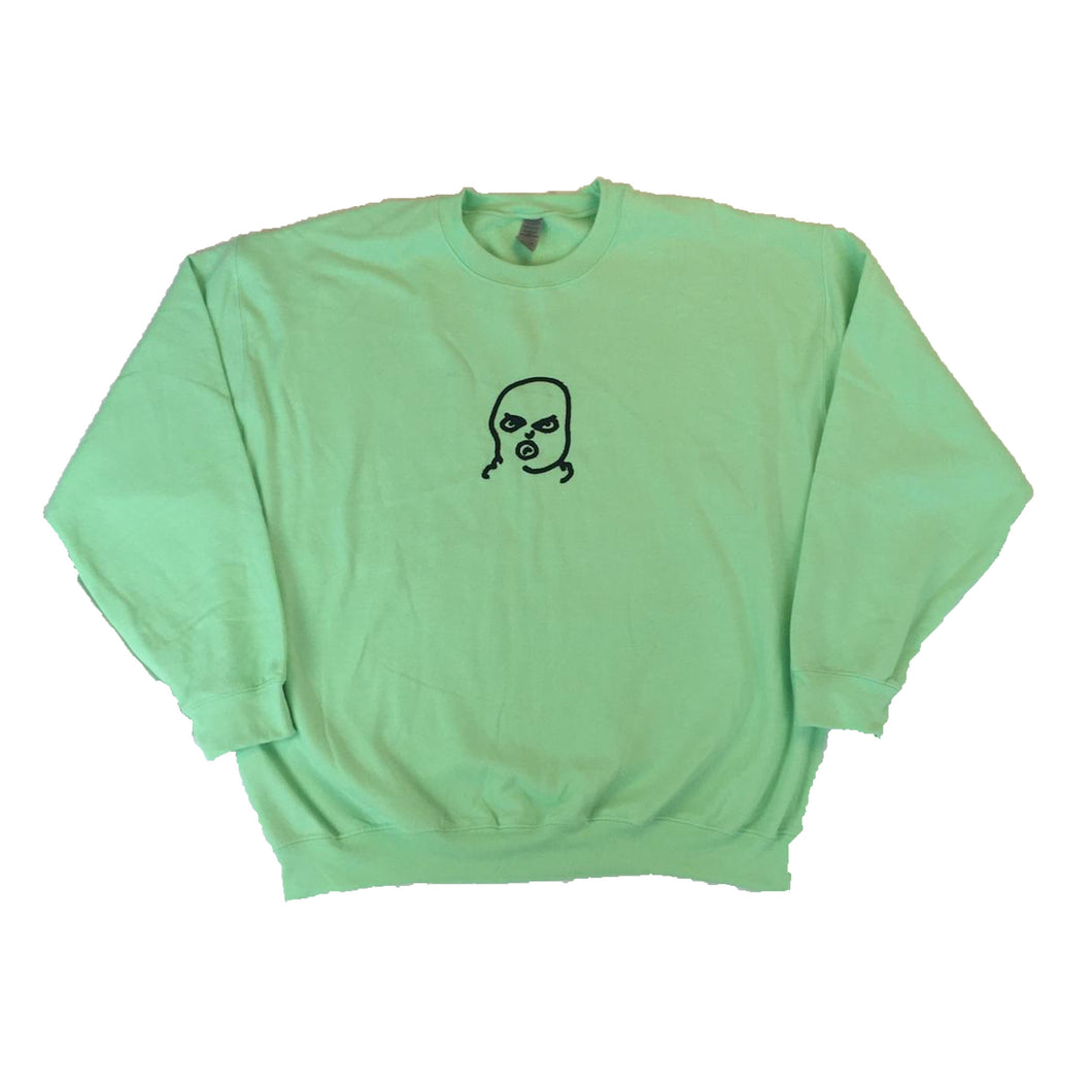 X-Large The Hated BIG bally logo sweatshirt - mint green/black