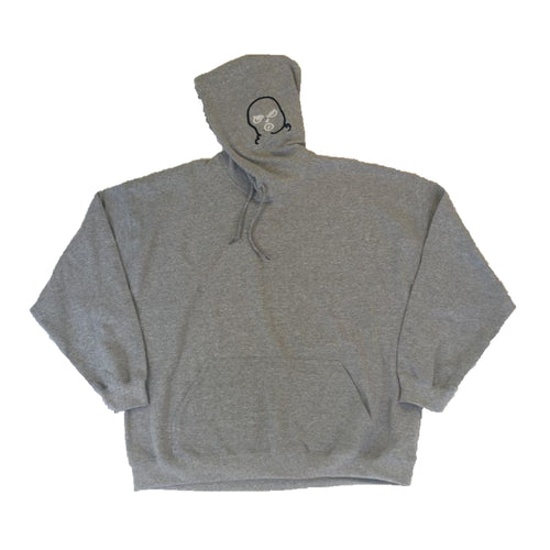 2XL The Hated embroidered BIG bally logo 2 tone hoody - grey/navy/white - The Hated Skateboards