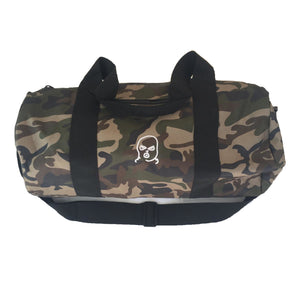 The Hated bally logo duffel bag - camo/white