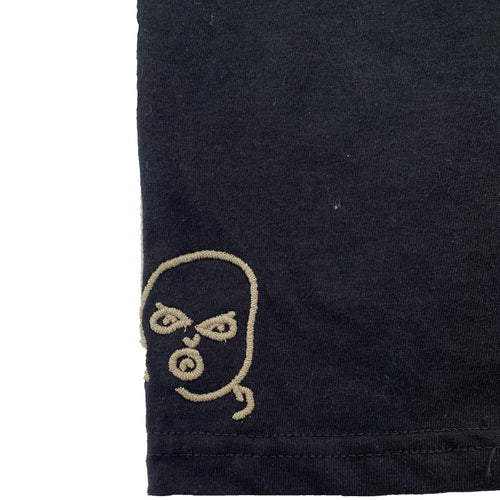 The Hated discreet bally logo embroidered T-shirt - black/off gum - The Hated Skateboards