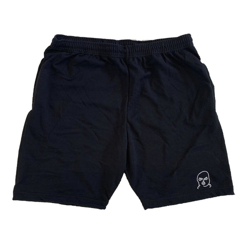 The Hated bally logo light and breezy shorts - black