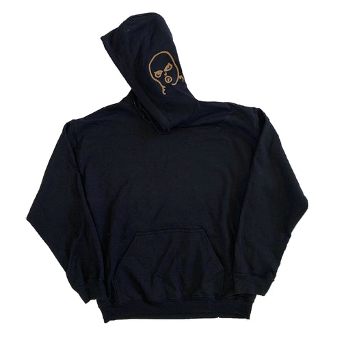 The Hated embroidered BIG bally logo hoody - black/off gum - The Hated Skateboards