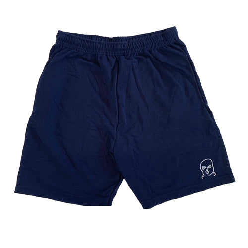 The Hated bally logo light and breezy shorts - navy