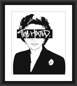 The Hated Margaret Thatcher A3 print
