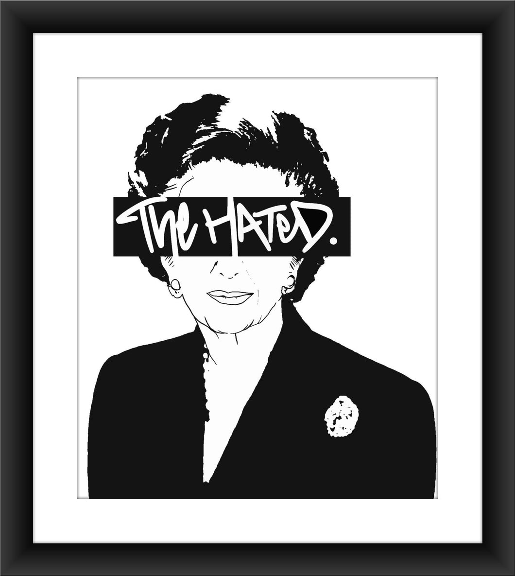 The Hated Margaret Thatcher A3 print - The Hated Skateboards