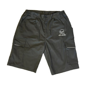 The Hated bally logo grafters shorts - grey/white