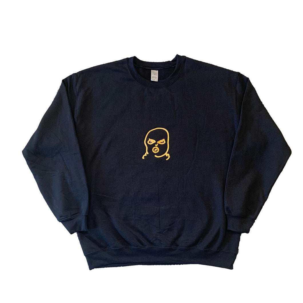 The Hated BIG bally logo sweatshirt - black/gold blend - The Hated Skateboards