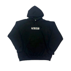 The Hated woven box logo patch Hoody - black/white/black