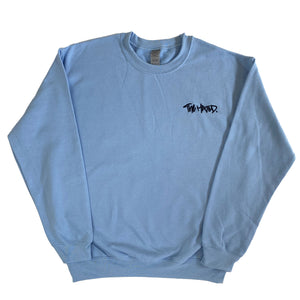 The Hated box logo baby sweatshirt - baby blue/navy