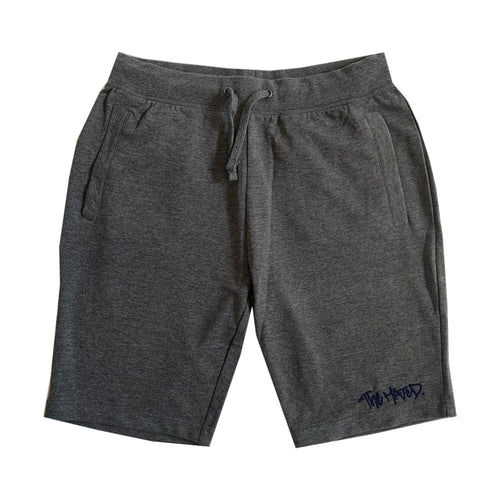 The Hated box logo slim fit summer shorts - grey/navy - The Hated Skateboards