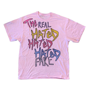 Real Fake x The Hated - Jazzy Jeff hand drawn T-Shirt - The Hated Skateboards