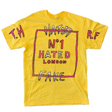 Load image into Gallery viewer, Real Fake x The Hated - No1 Hated hand drawn T-Shirt - The Hated Skateboards