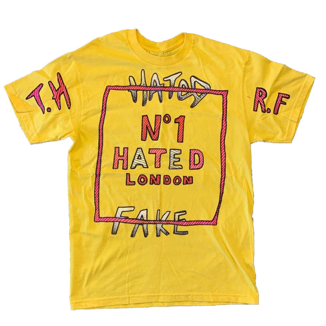 Real Fake x The Hated - No1 Hated hand drawn T-Shirt