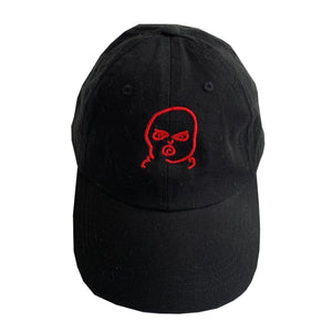 The Hated bally logo dad cap - black/red