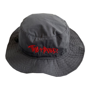 The Hated bucket hat - grey/red