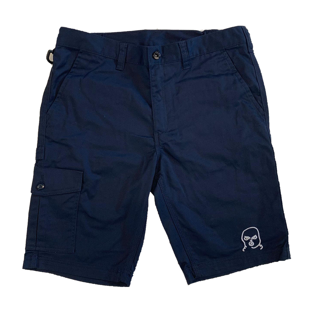 The Hated bally logo embroidered cargo shorts - navy/white