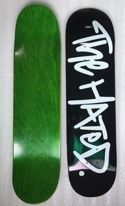 The Hated box logo skateboard deck