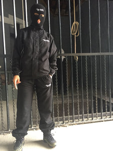 The Hated tracksuit top and bottoms combo - Black