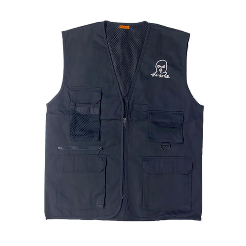 The Hated bally logo grafters vest - midnight blue/white