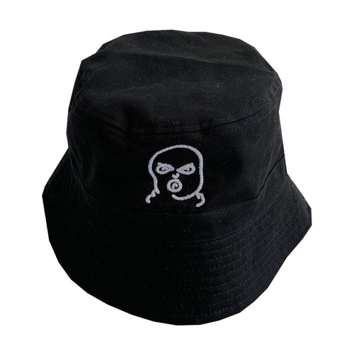 The Hated bally logo reversible bucket hat - black/grey/white