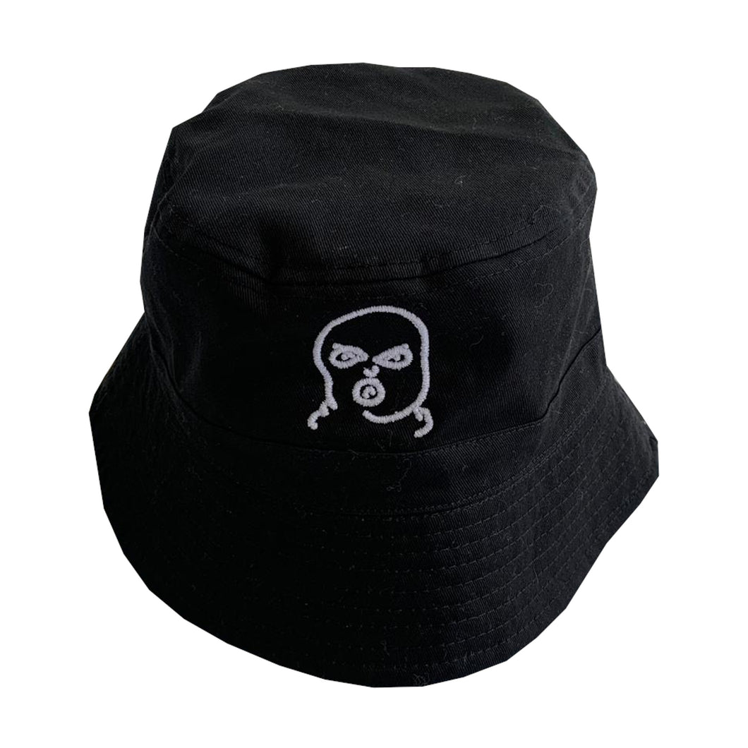 The Hated bally logo reversible bucket hat - black/grey/white - The Hated Skateboards