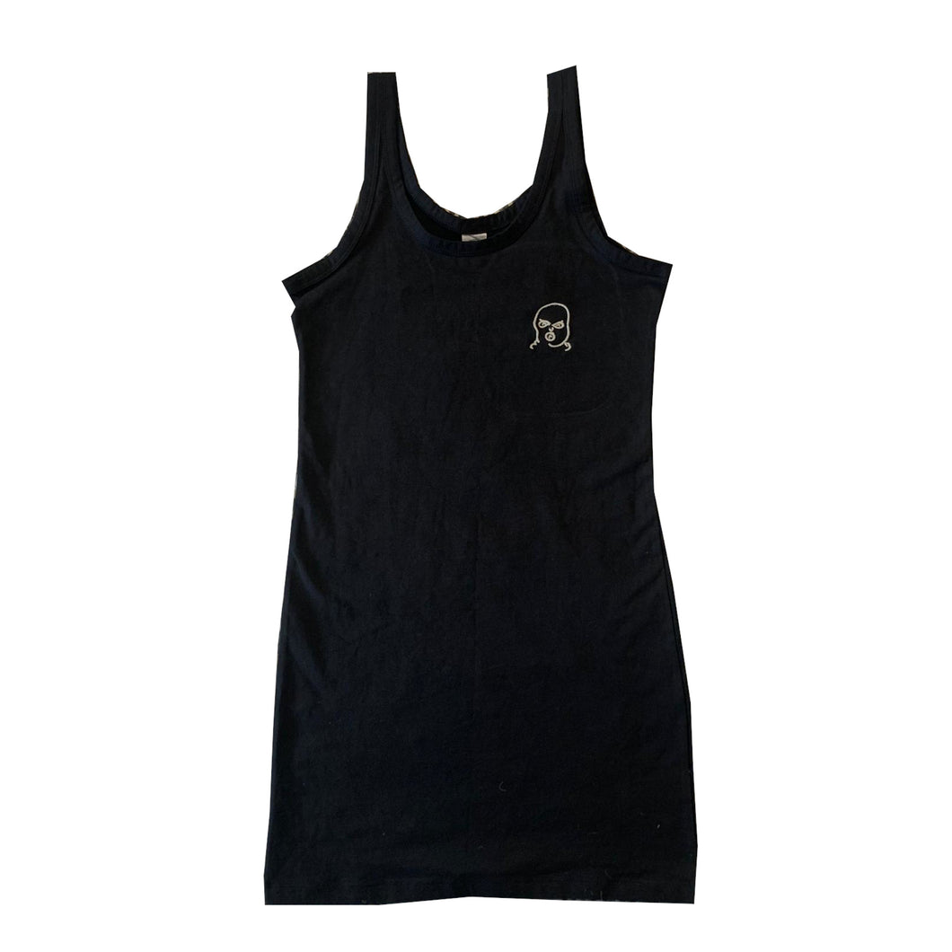 Small The Hated bally logo embroidered extra long stretch tank