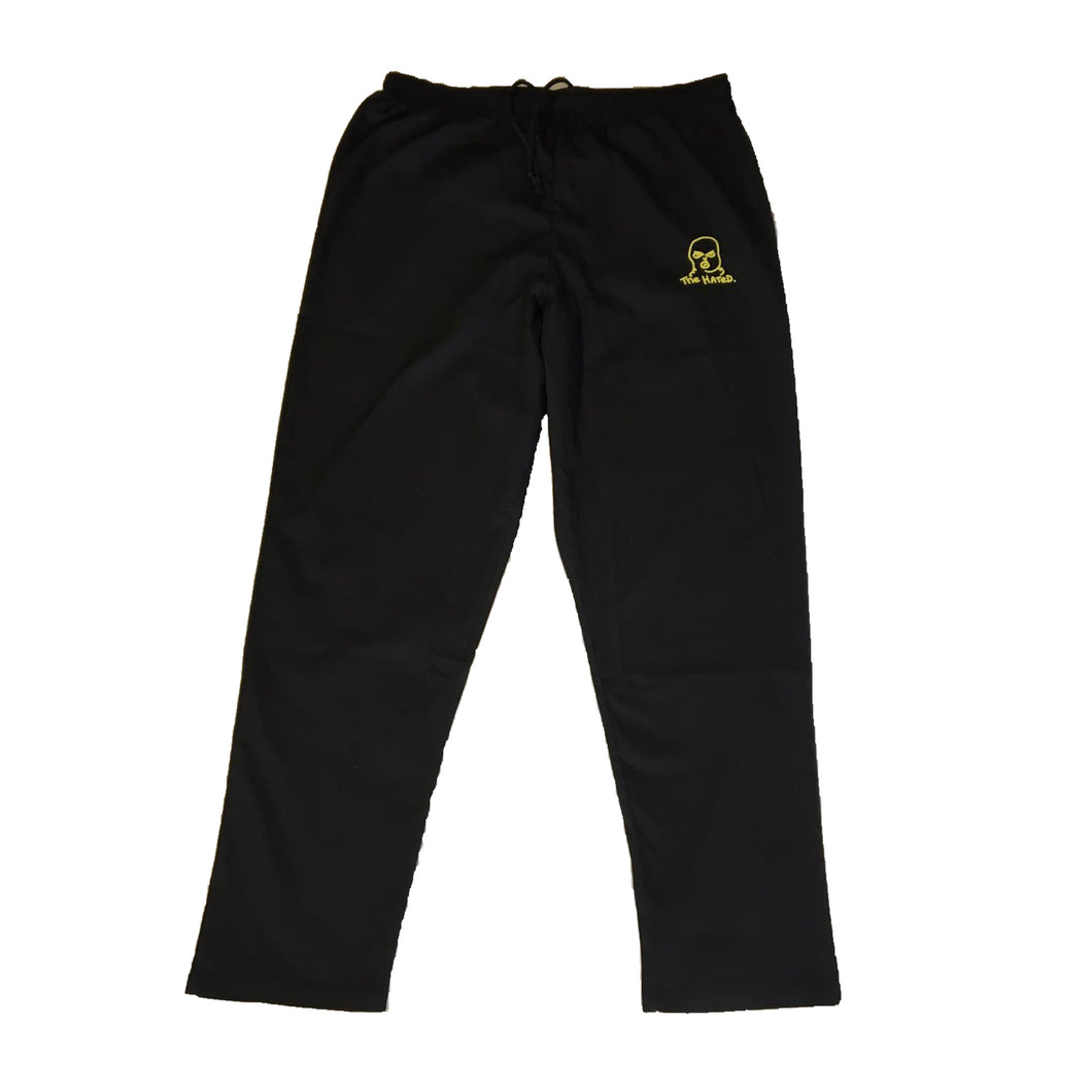 The Hated bally logo embroidered price point trousers - black/yellow - The Hated Skateboards