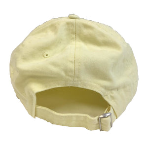 The Hated bally logo dad cap - pastel lemon/pink
