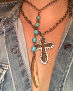 Cross and Feather Interchangeable Necklaces
