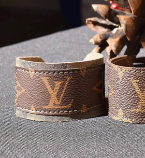LV Monogram Camo Leather Cuff Bracelet