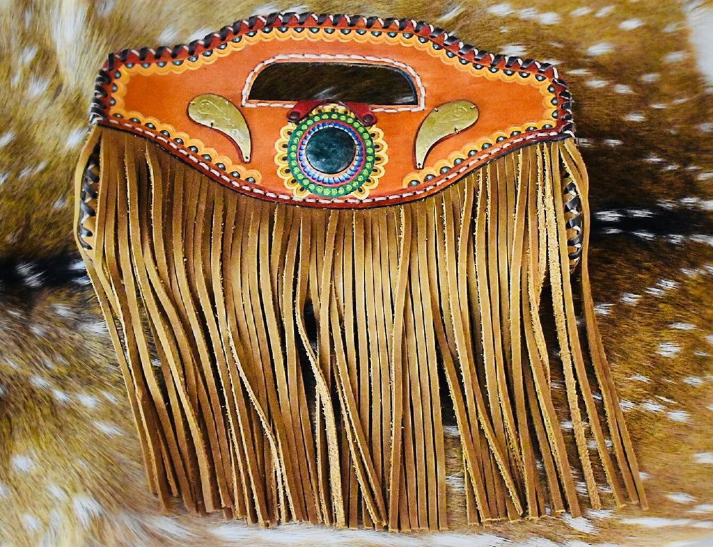 Leather Fringe Handbag