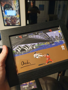 Signed A6 IK frame - signed by Archer Maclean