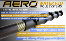"Load image into Gallery viewer, Aero Master Range: ""Boss"" 100% High Modulus Carbon Fibre Kevlar Water Fed Pole"