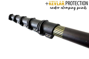 "Aero Master Range: ""Control"" Kevlar Compact Carbon Hybrid Water Fed Pole"