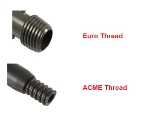 ACME or Euro Thread To Universal Cone Pole Tip