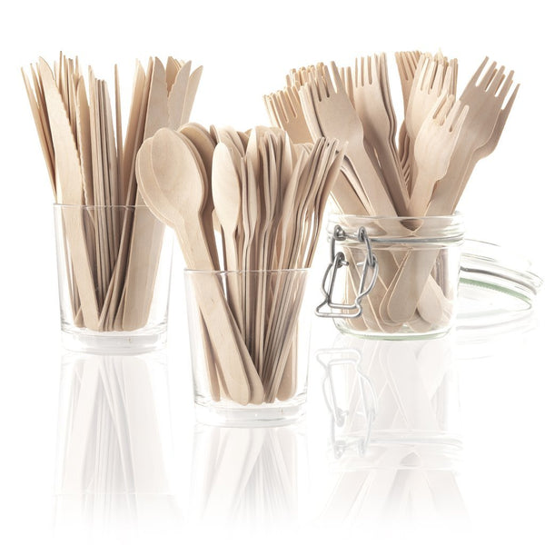 Biodegradable Wooden Cutlery Set 150 Piece