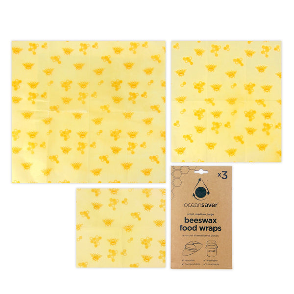 Oceansaver Beeswax Food Wraps 3 Pack