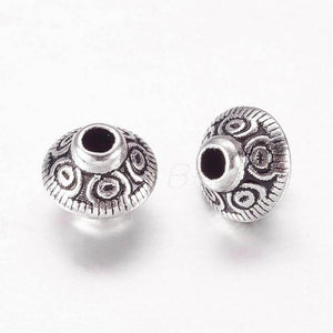Tibetan Style Antique Silver Bicone Alloy Spacers Bead 3c065d6d25eef