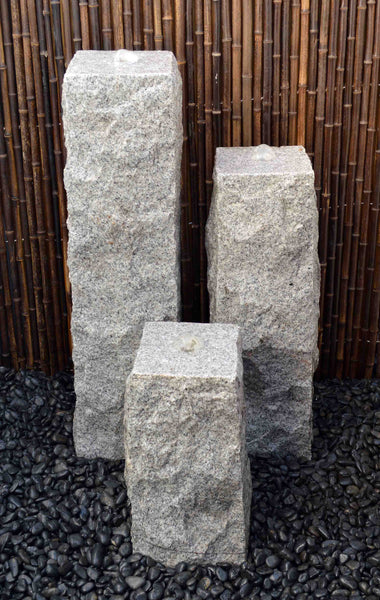 "12"" Chiseled Granite Fountain Kits"