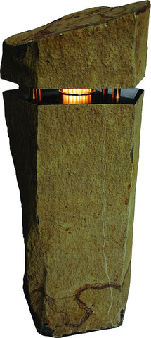"Grand Coulee Column Basalt Light, ~22"" Diameter"