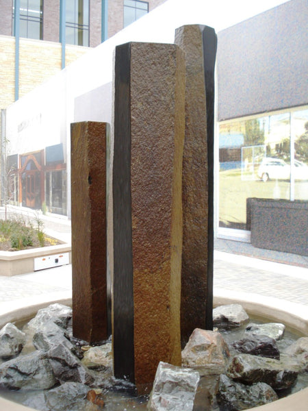 Custom Basalt Fountain - Polished Sides